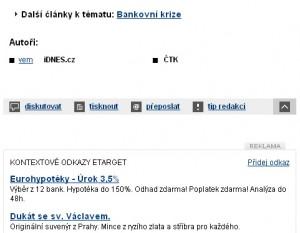 Etarget na idnes.cz